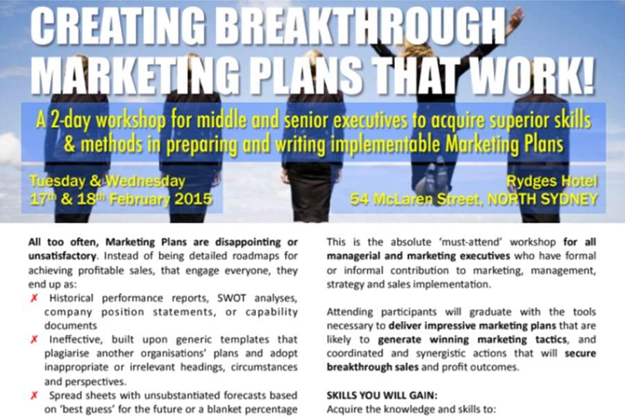 Marketing Planning Workshop outline